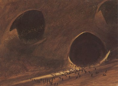 One of John Schoenherr's Sandworm illustrations.