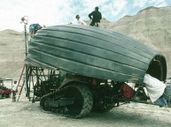 The Tanker Bug shell on set.