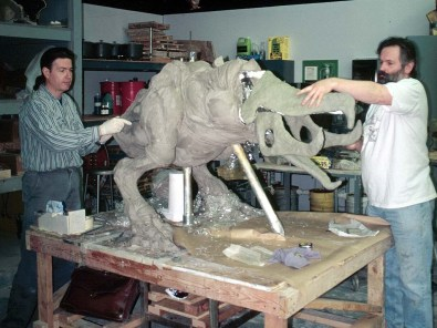 Sculpting the Shrieker.
