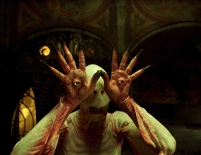 The Pale Man in the final film, with the digitally augmented eyes.