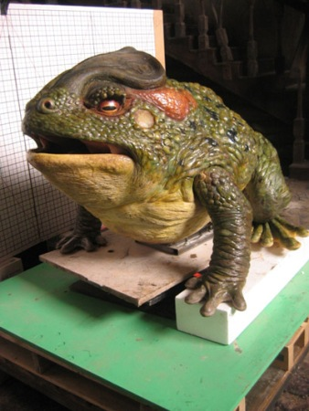 The toad animatronic.