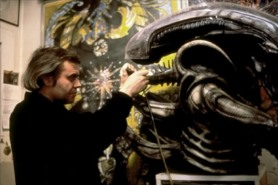 Giger at work on the Alien.
