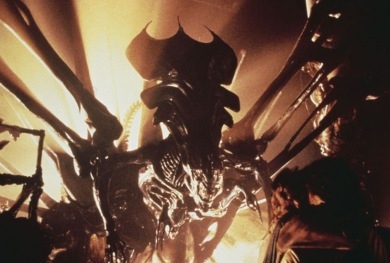 AliensQueenbacklit