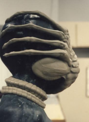The Facehugger sculpture.