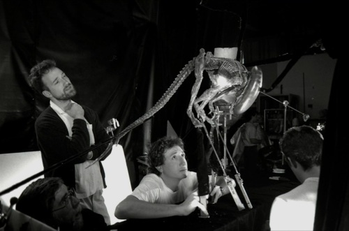 Fincher and the puppet.