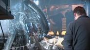 The hydraulic Alien on set.