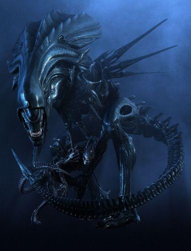 Promotional stills featuring the digital Queen Alien.