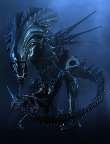 Promotional stills featuring the digital Queen Alien.