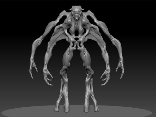 Arms detached.