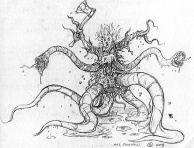 Concept art of the Pickman creature.