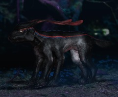 Concept art of the Viperwolf cub.