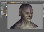Painting the skin texture for the Marcus digital model.
