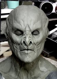 The final Marcus face sculpture.