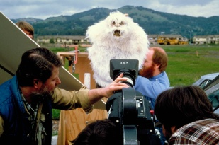 Filming the close-up puppet.