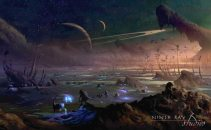 Concept art of the Moorwen's planet.