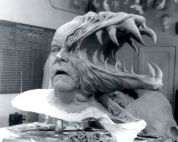 The head of the Blair-Monster, sculpted by Henry Alvarez.
