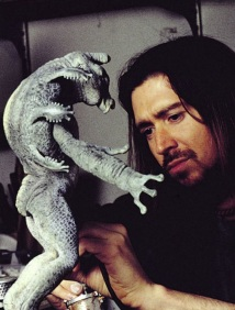 Aaron Sims paints a reference maquette of Mikey.